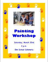 flyer design for kids workshop in flyer designs u0026 templates