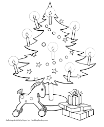 christmas tree coloring pages toys under the christmas tree