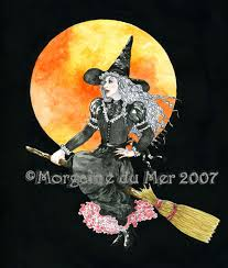 witches and halloween fantasy art by morgaine du mer