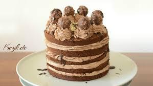 nutella ferrero rocher cake with nutella buttercream und whip