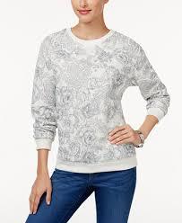 karen scott petite printed sweatshirt created for macy u0027s tops