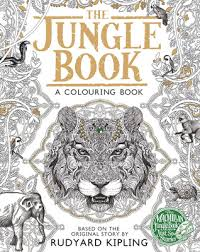 macmillan jungle book colouring book rudyard kipling