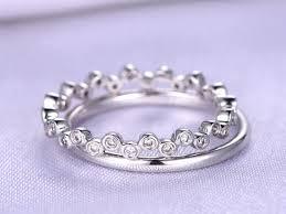 set rings round images Bridal ring set plain gold wedding ring round shape diamond jpg