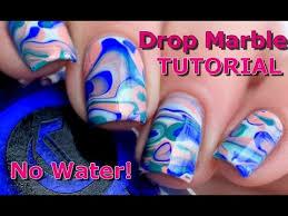 nail art drop marble nails tutorial no water melyne nailart