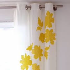 White And Yellow Curtains Diy Embellished Curtains Curtain Tutorial And Tutorials