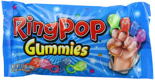 Ring Pop Boxes Amazon Com Bazooka Ring Pop Gummies Pouch 1 70 Ounce Pack Of