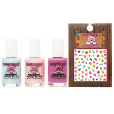 piggy paints cotton candy nail polish with sweetie nail art toys