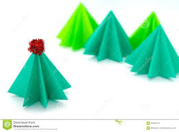 paper craft christmas tree stock photo image 63031318