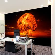 high quality modern desgin nuclear explosion 3d removable wall high quality modern desgin nuclear explosion 3d removable wall mural wallpaper photo self adhesive tv background living room in wallpapers from home