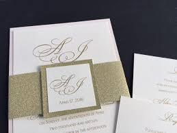 Blush Wedding Invitations Sample Glitter Wedding Invitations Glitter Belly Bands Glitter