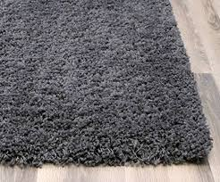 Stain Resistant Rugs Charcoal Gray Shag Rug 5 Feet X 8 Feet Soft U0026 Thick Textured