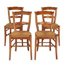 High Boy Chairs Set Of 4 Antique Italian Rush Seat Dining Chairs On The Highboy