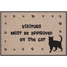 Please Wipe Your Paws Coir Rubbercal Wipe Your Paws 30 In X 18 In Dog Door Mat 18 In X 30 In