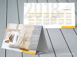 Desk Calendar Custom Custom Tent Calendar 2018 Desk Photo Calendar Template