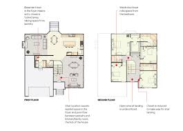 Center Hall Colonial Floor Plans Move The Staircase For Better Circulation And Storage Builder