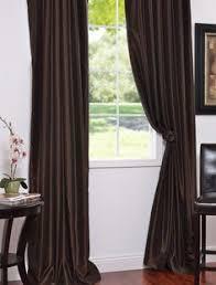 Faux Dupioni Silk Curtains Chocolate Textured Dupioni Silk Curtains U0026 Drapes For The Home