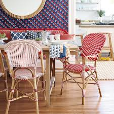 Blue Bistro Chairs Chair Bistro Chairs Made From Rattan With Wood Patern And