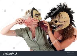 young halloween women ugly scary masks stock photo 63349651