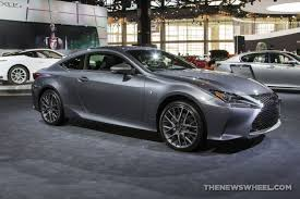 lexus is f sport coupe 2017 lexus rc 350 f sport silver coupe car on display chicago auto