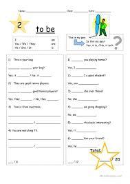 14 free esl negative verb to be worksheets