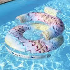 siege de piscine gonflable fauteuil gonflable piscine zig zag laboutiquedesjoyaux desjoyaux