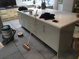 Flagstone Laminate Flooring Howdens Kitchen With Sabre Stone Quartz Work Top And Grey
