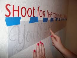 how to install vinyl wall lettering for the first time step by