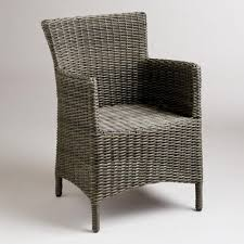 furniture appealing black wicker indoor dining chairs rattan