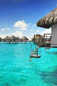 over water bungalows with steps into lagoon luxury beach villas