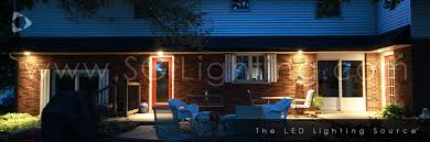 outdoor under eave lighting led soffit lighting sgi lighting
