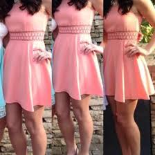 fancy casual dress skater dress casual fancy coral wheretoget