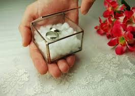 jewelry rings box images Glass ring box wedding ring holder geometric glass box ring jpg