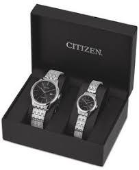 citizen quartz mens watch black dial steel case u0026 bracelet