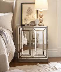 nightstand splendid enchanting mirrored glass nightstand great