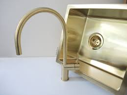Gold Kitchen Sink Brushed Brass Gold Kitchen Mixer Tap Stainless Steel Uk