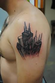 chicago map tattoo