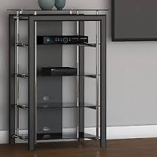 Blu Ray Shelves by Black Chrome Media Stand Audio Tower Electronics Cabinet Blu Ray