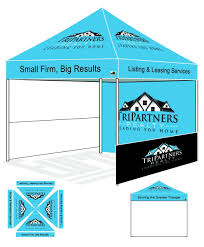 Custom Printed Canopy Tents by Eurmax Pre Pop Up Canopy With Custom Printed Graphics Instant