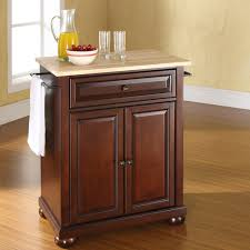 alexandria natural wood top portable kitchen island vintage