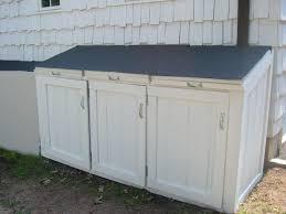 outdoor wooden garbage can storage bin u2022 storage bins
