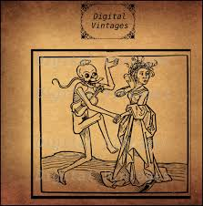 vintage halloween skeleton skeleton skull dancing creepy halloween illustration vintage
