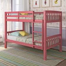 Bunk Beds Pink Pink Bunk Loft Beds Bedroom Furniture The Home Depot