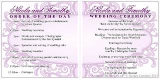 how to do a wedding program wedding programs and order of the day a s invites boda