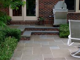 Sand Cement Mix For Patio Bluestone Patio And Steps With Brick Risers Deck Ideas