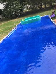 backyard splash pad one tarp with pool noodles rolled and sewed