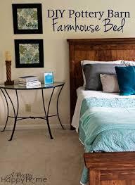 Pottery Barn Magazine Subscription Diy Pottery Barn Inspired Farmhouse Bed A Pretty Happy Home