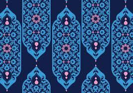islamic ornaments blue vector free vector stock