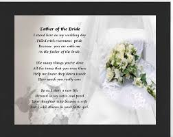 personalised mounted poem print wedding bouquet father of the