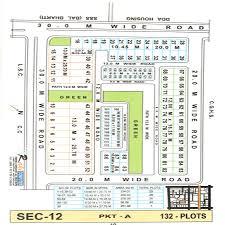 Plot Map Map Of Dda Plots In Sector 12 Pkt A U0026 B Dwarka New Delhi
