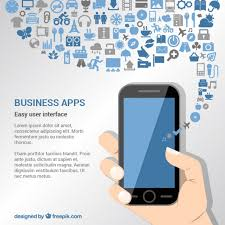 business apps background vector free